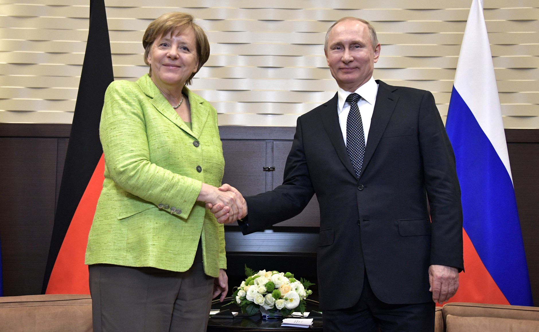 German Chancellor Angela Merkel meets with Russian President Vladimir Putin in Sochi