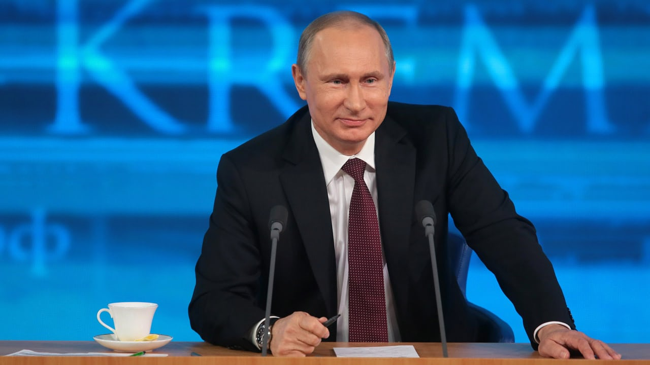 President Putin at a news conference