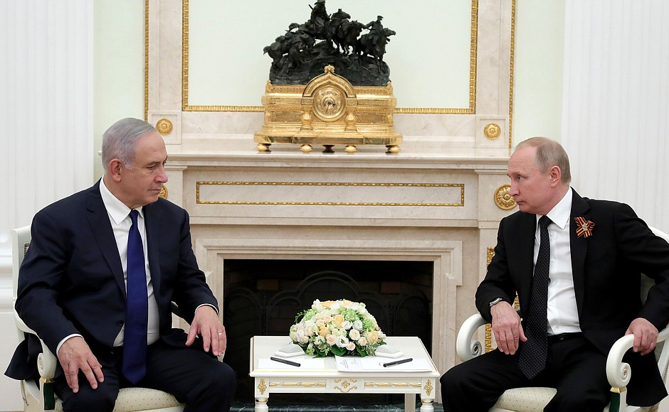 Vladimir Putin had talks with Prime Minister of Israel Benjamin Netanyahu in the Kremlin