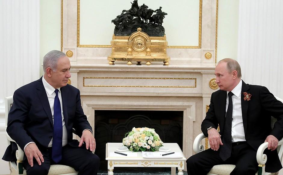Vladimir Putin had talks with Prime Minister of Israel Benjamin Netanyahu in the Kremlin