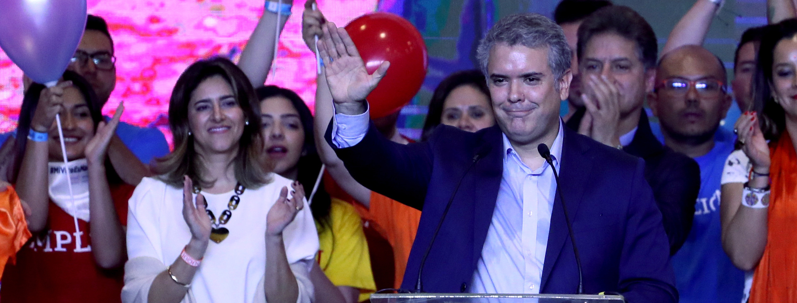 Duque wins 1st round of Colombian presidential election