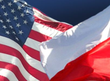 American-And-Polish-Flags