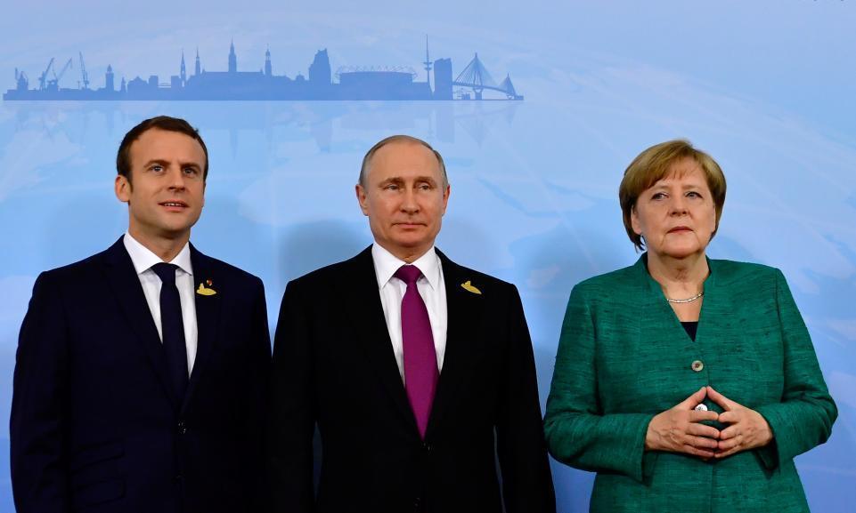Merkel Putin Macron