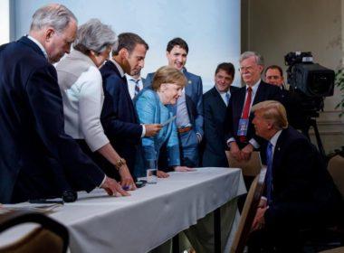 Trump hits back at G7