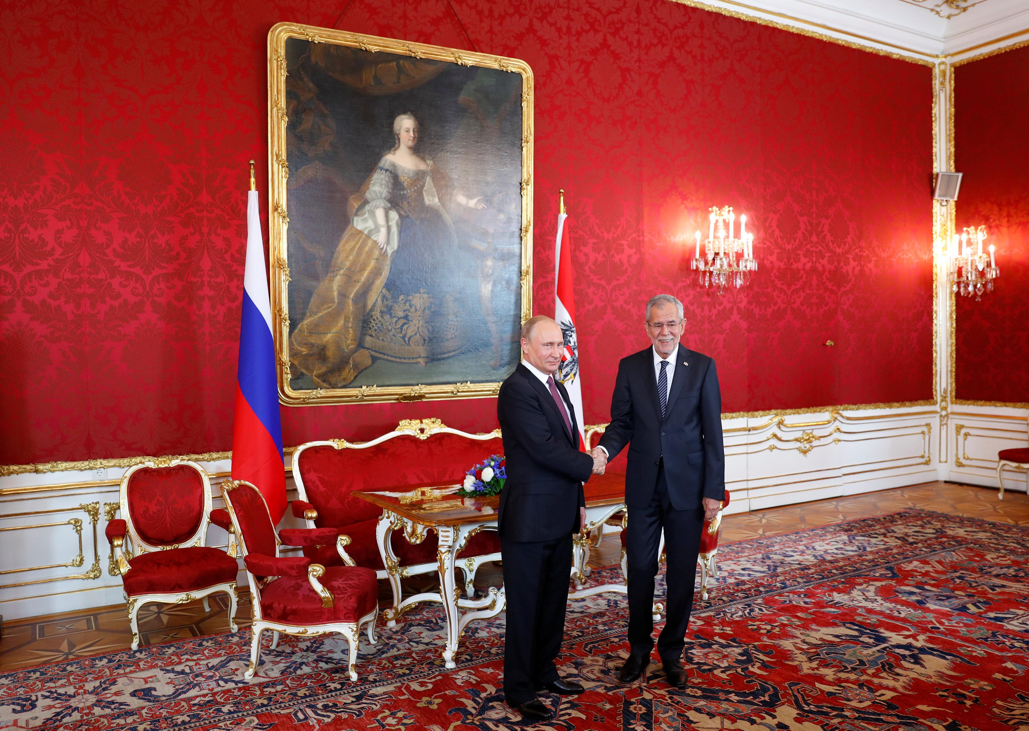 Russia's President Vladimir Putin visits Austria