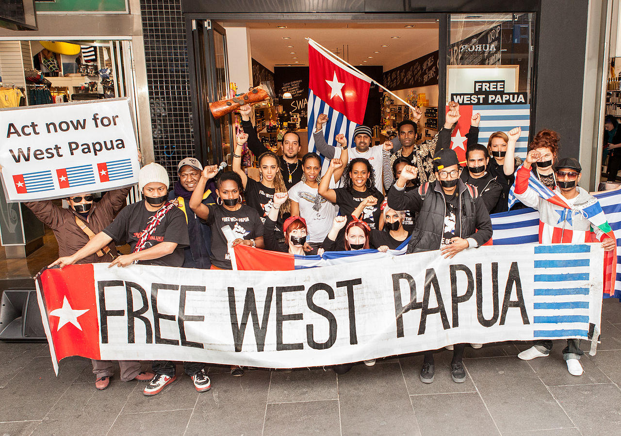Free West Papua Protest in Melbourne