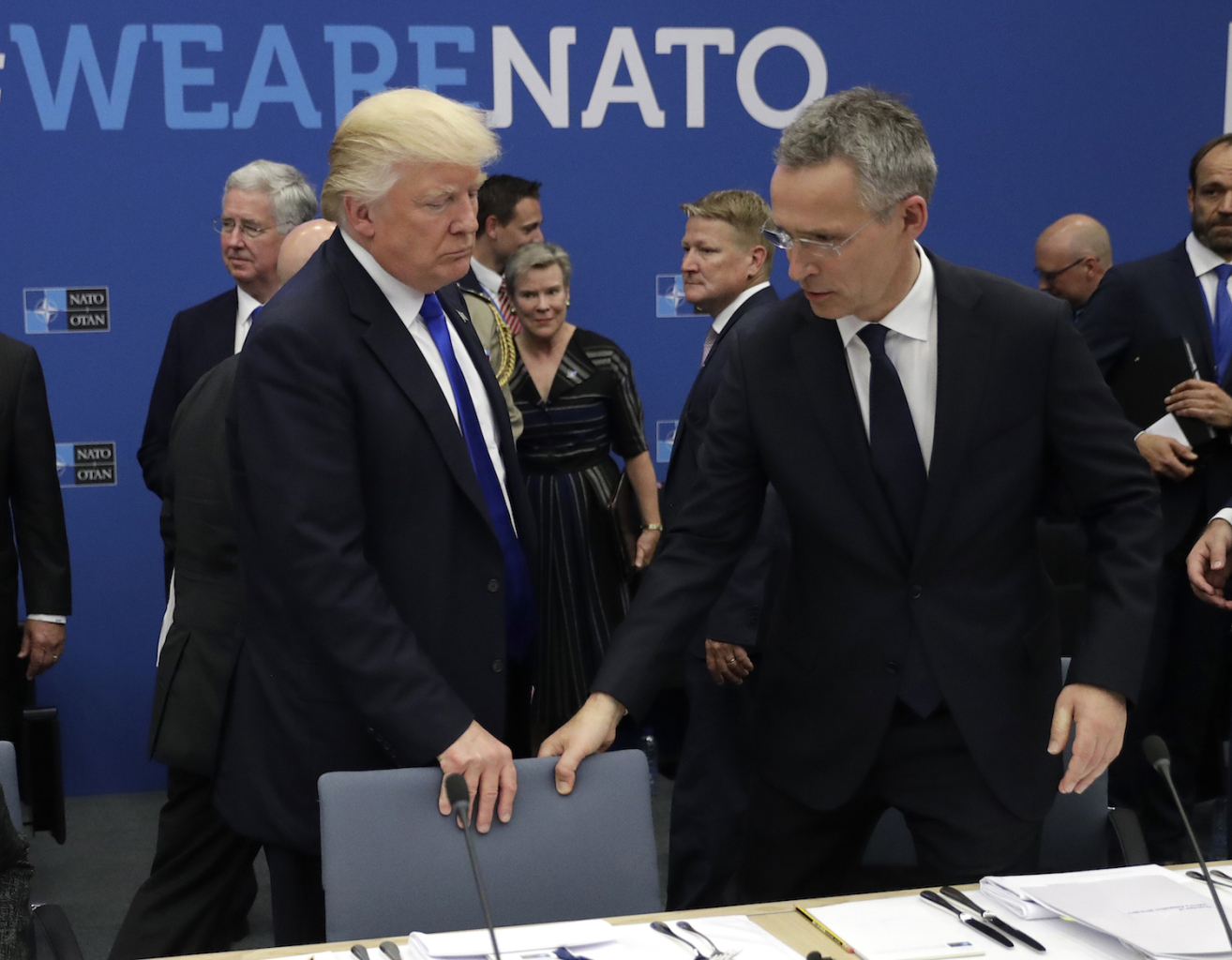 Trump and Stoltenberg