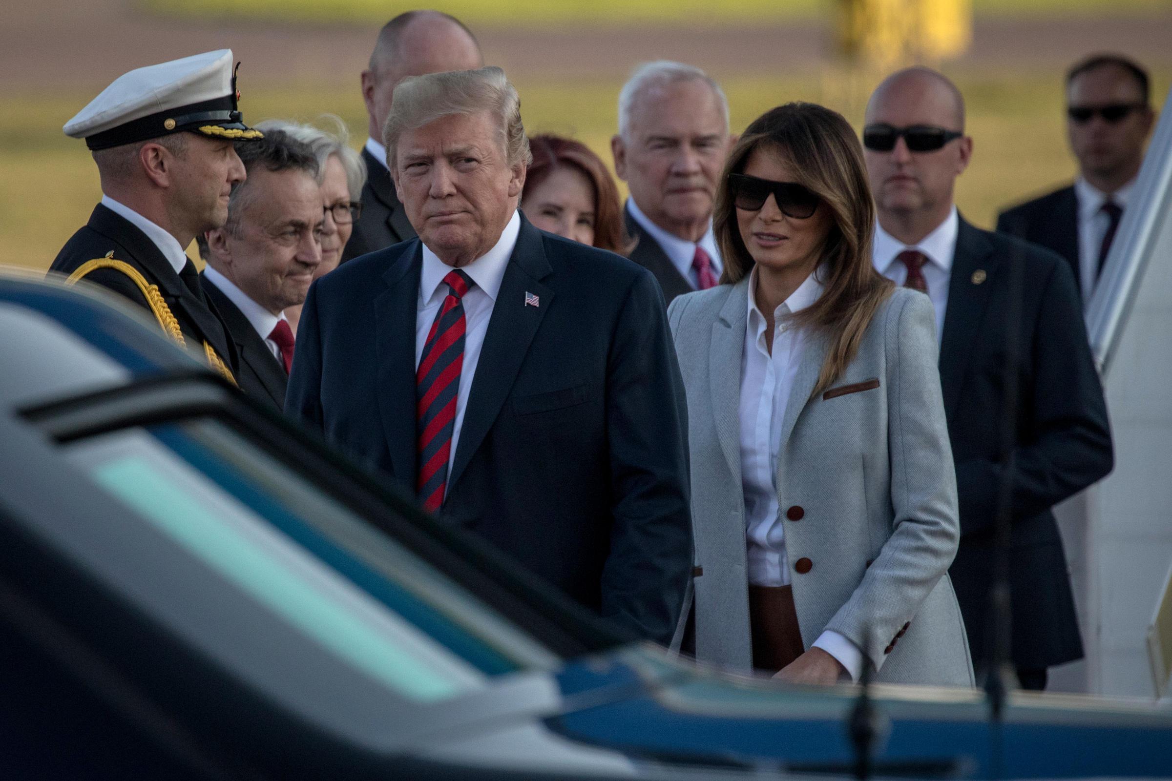 Trump arrive in Helsinki