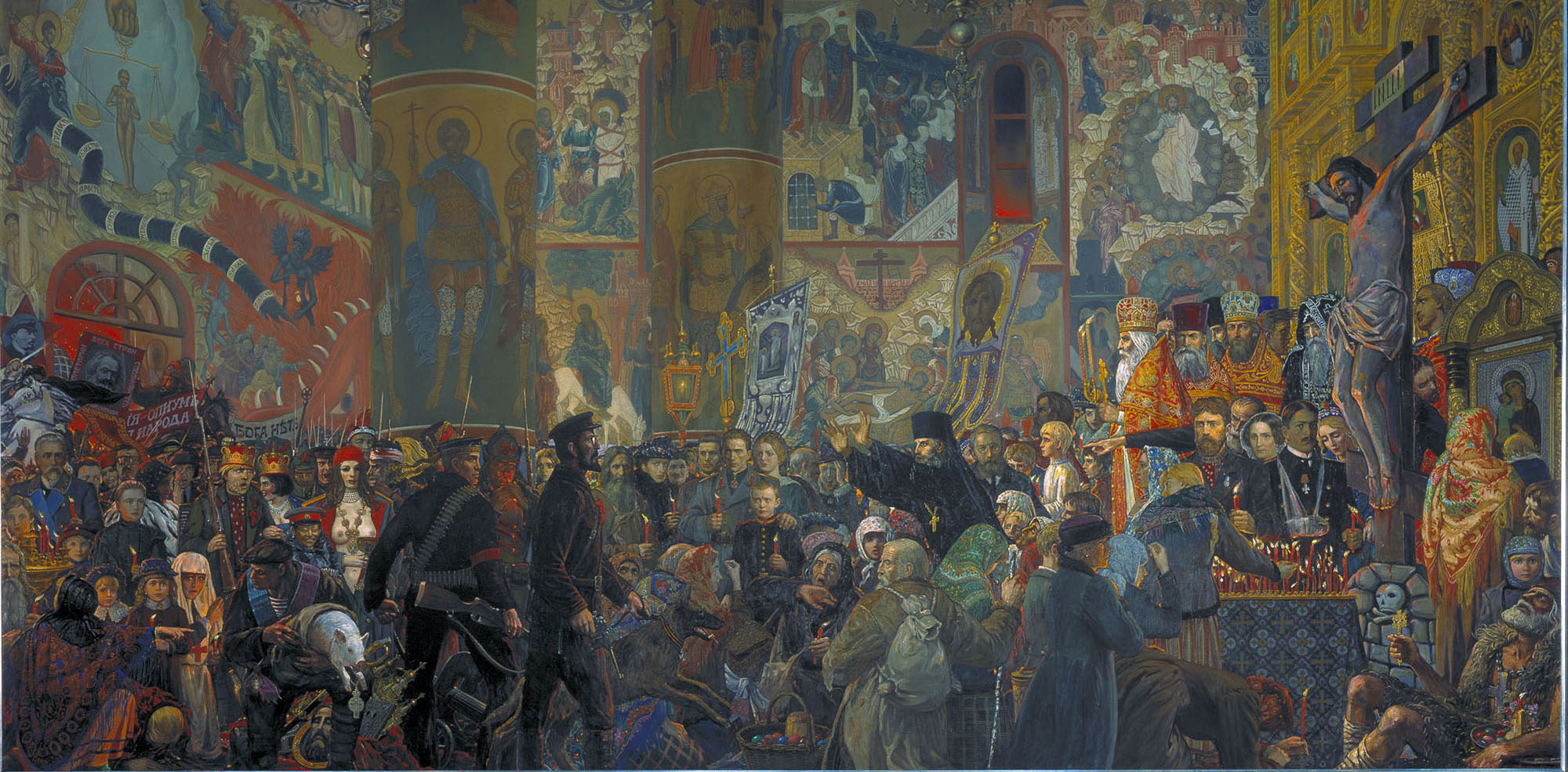 The Desecration of the Church at Easter (Ilya Glaazunov, 1999