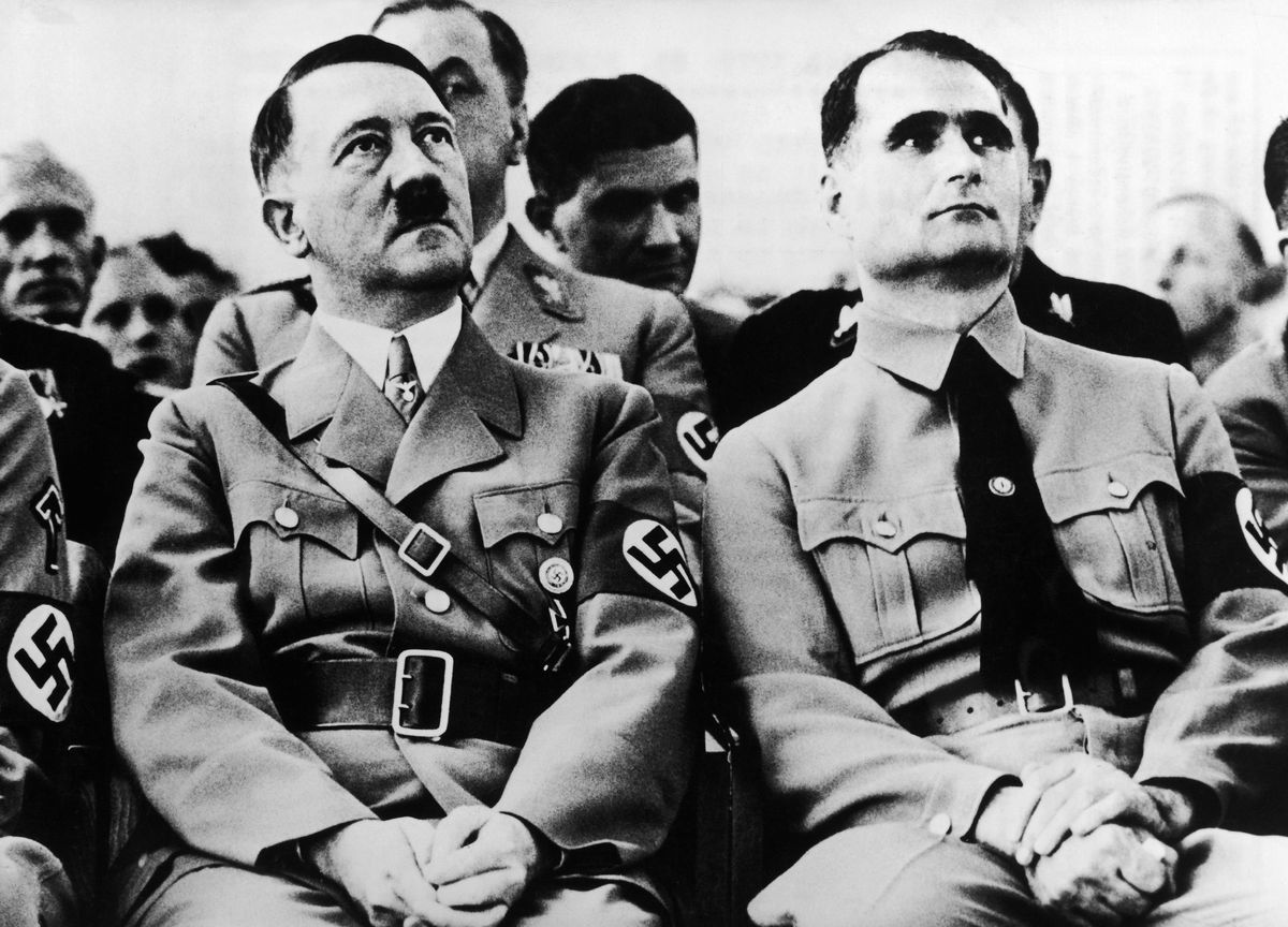 Adolf Hitler and Rudolf Hess around 1934