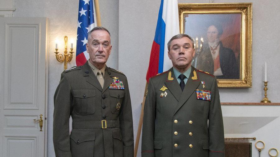 Gen. Joe Dunford and Gen. Valery Gerasimov