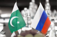 Russia Pakistan Flags