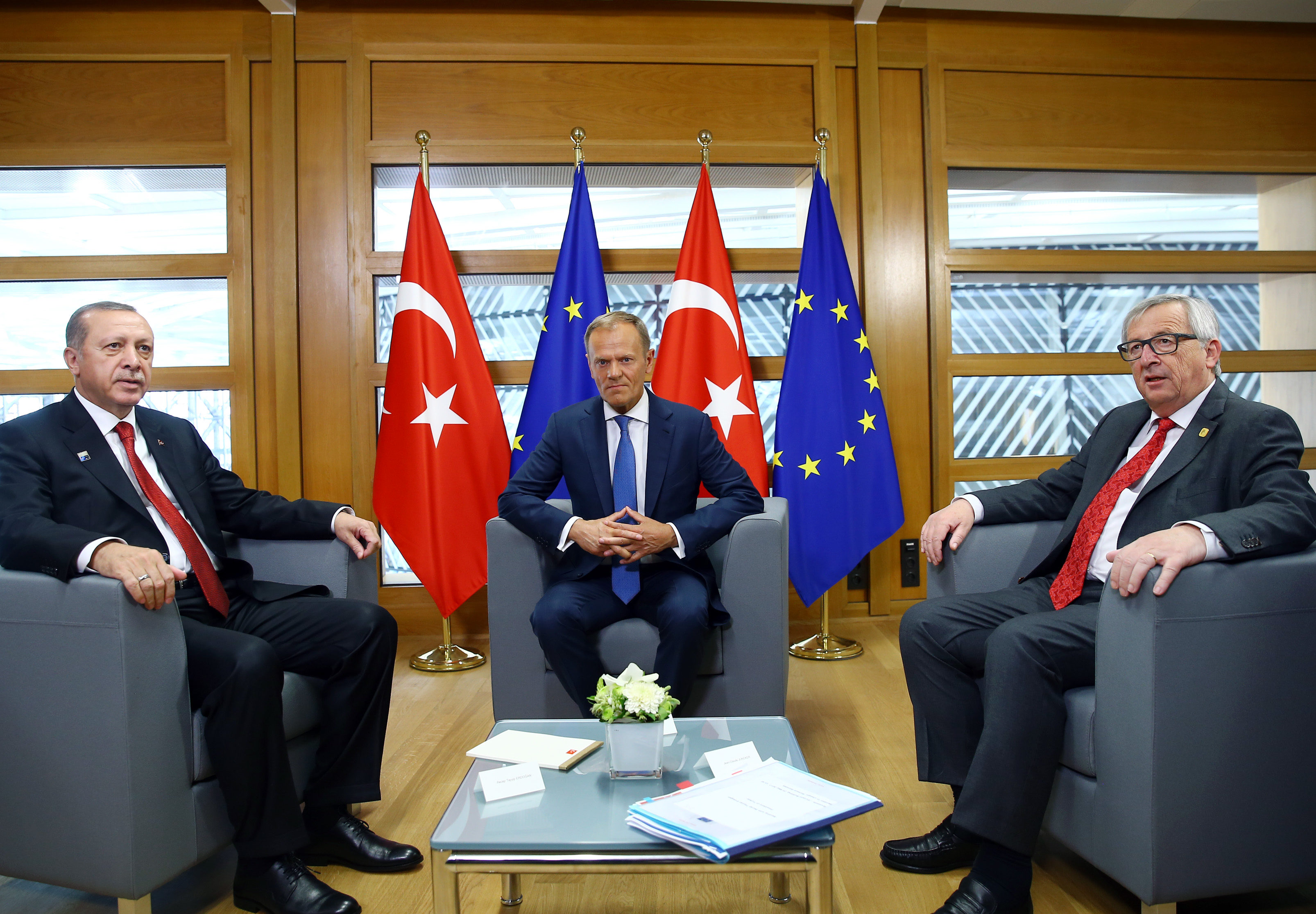 Turkish President Erdogan in Brussels