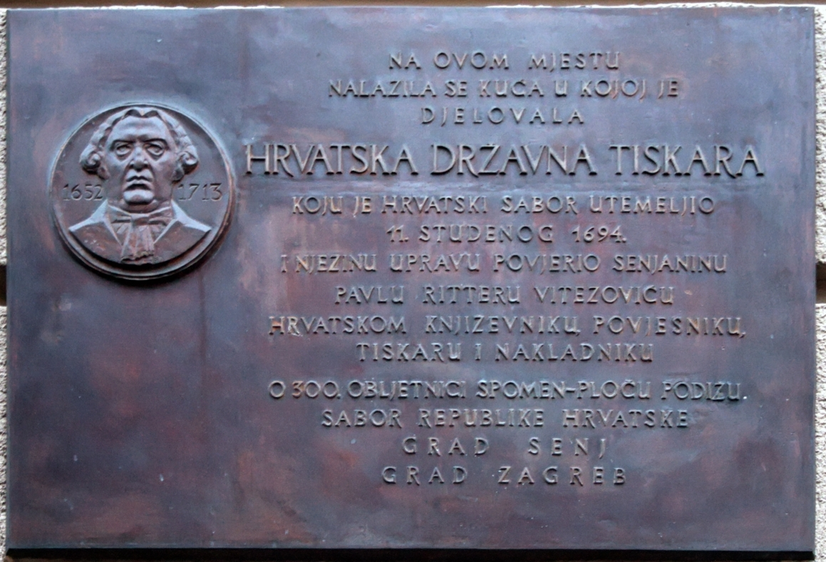 tablet of Croatia state printing-office