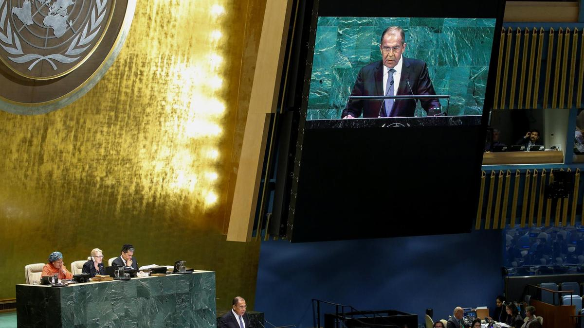 Lavrov at UN