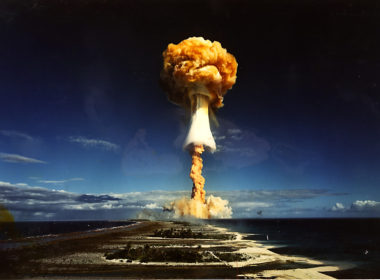 Licorne thermonuclear test in French Polynesia