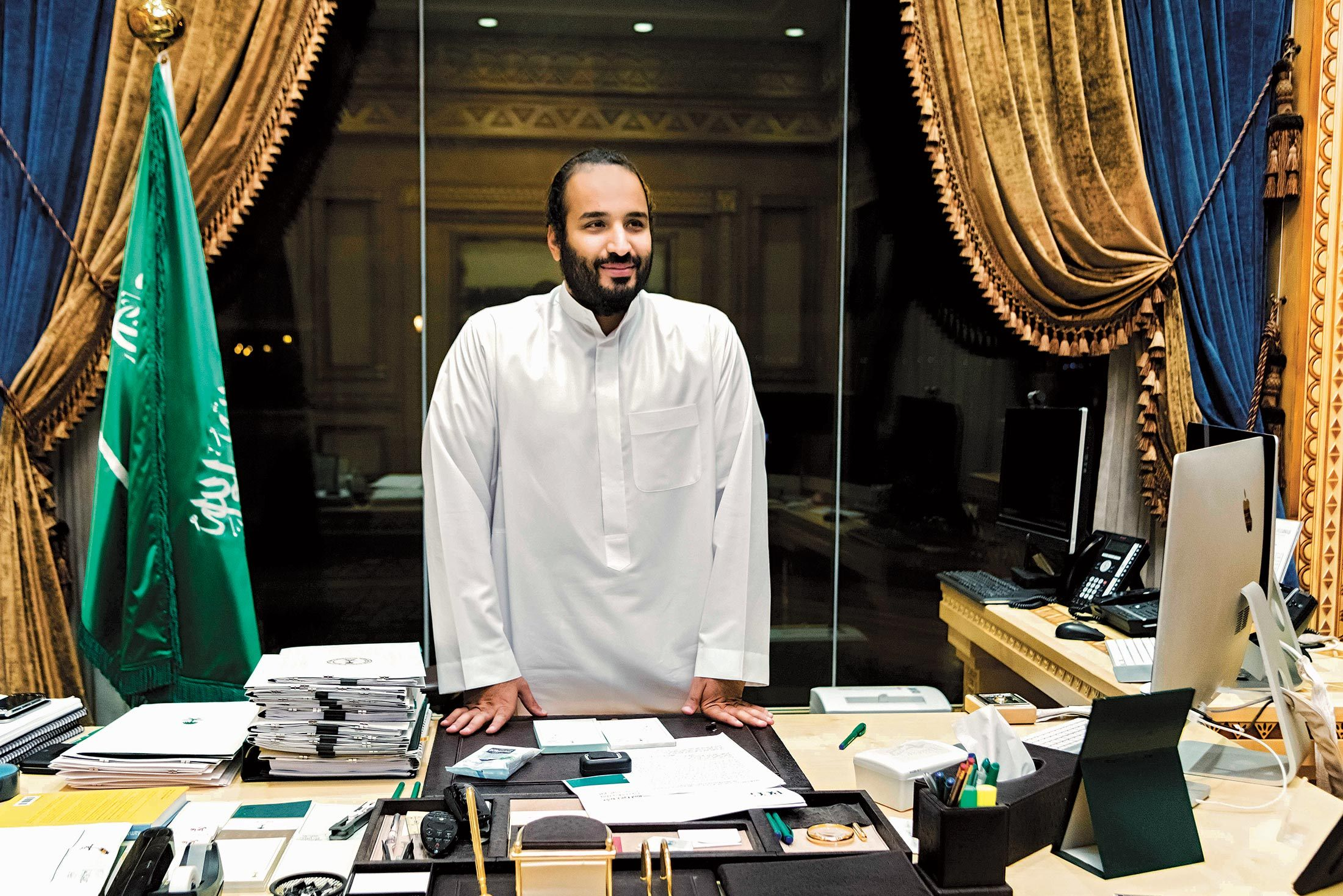 Mohammed Bin Salman at office