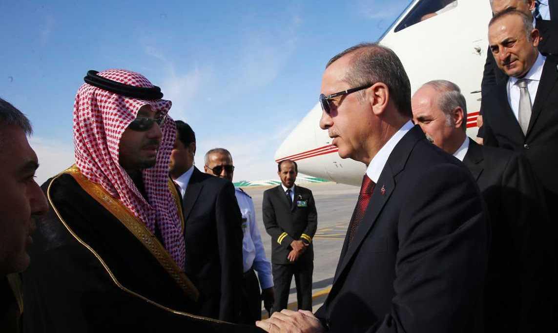Turkish President Recep Tayyip Erdogan arrives in Riyadh