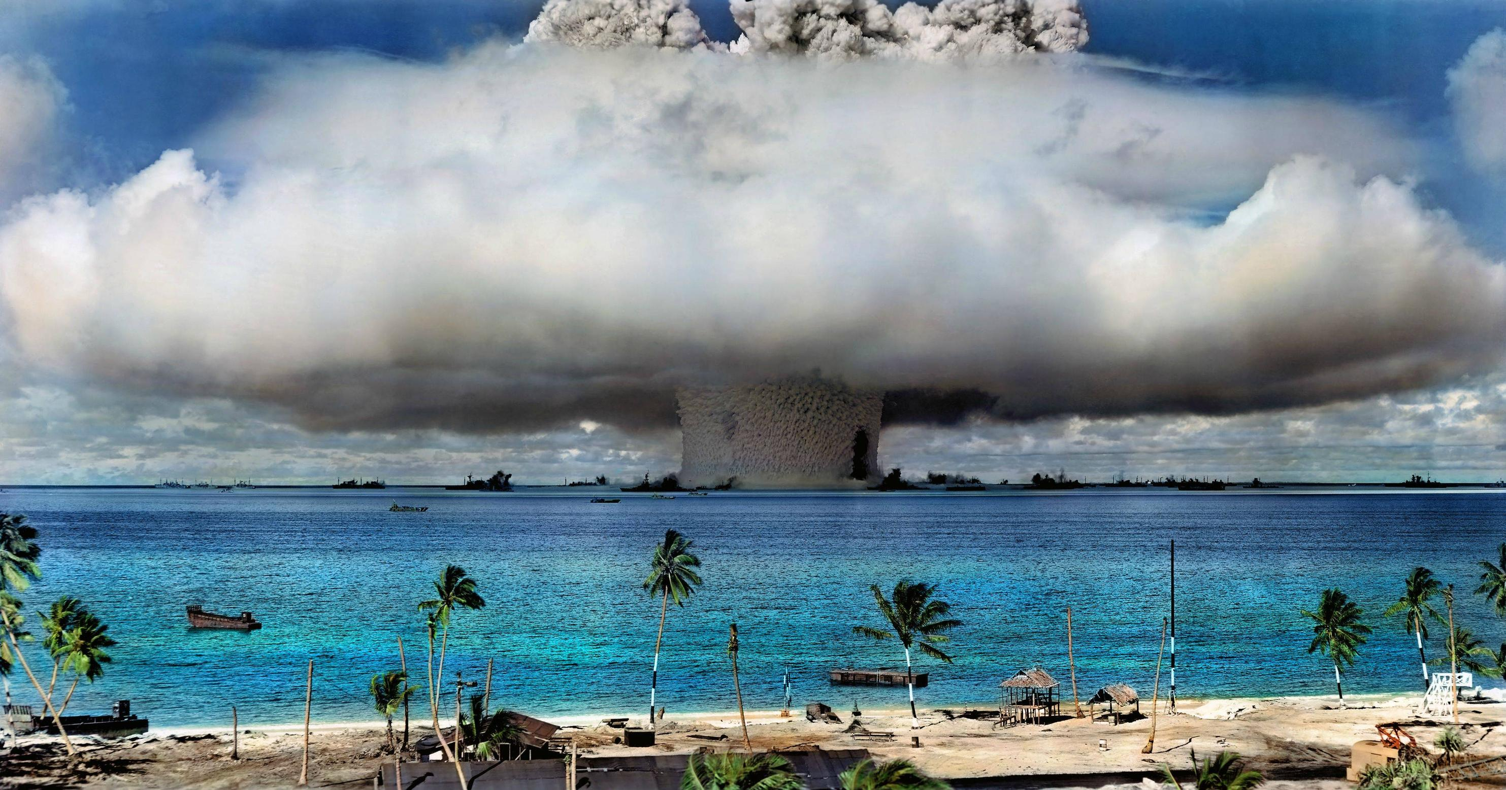 A nuclear test on Bikini Atoll