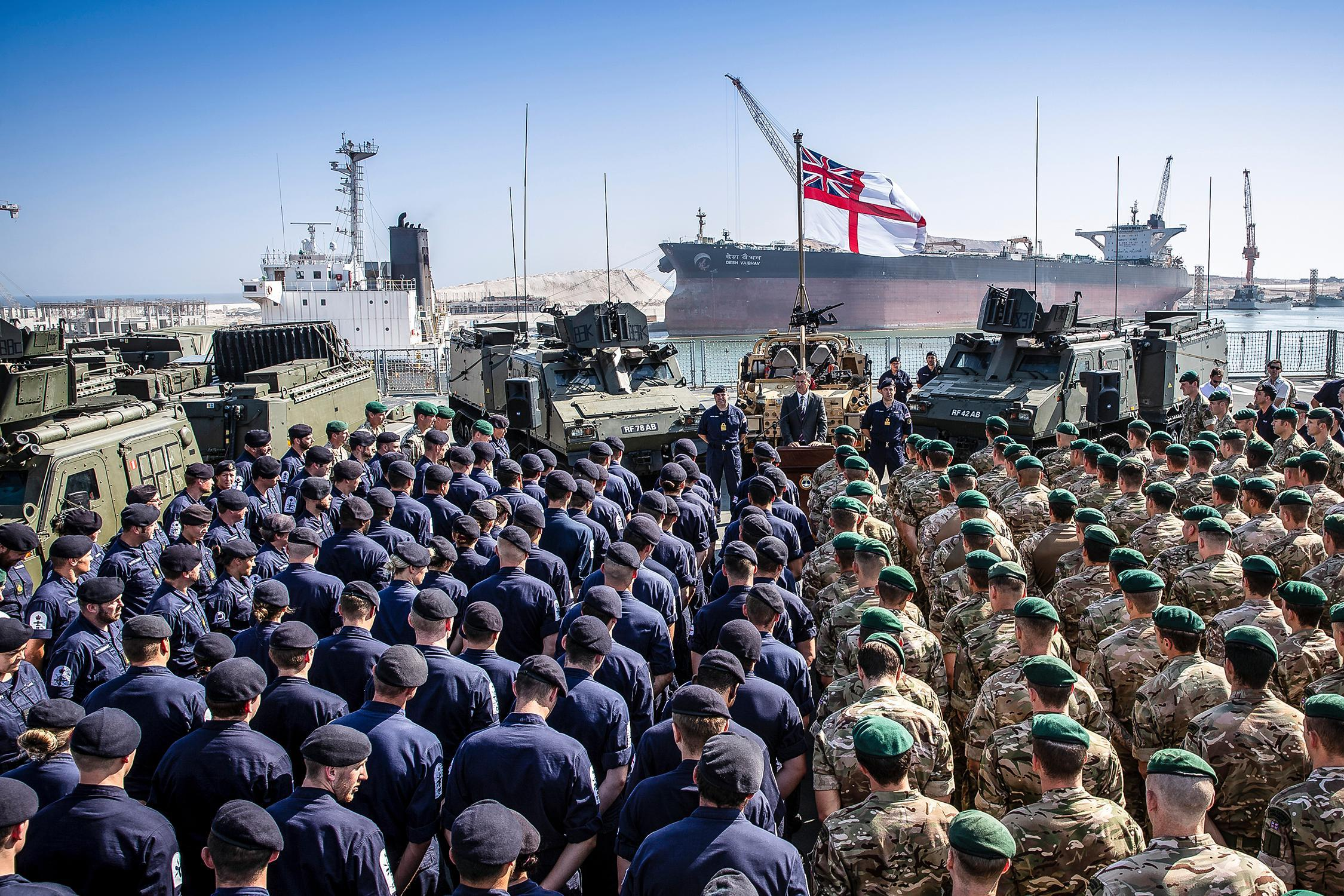 UK new naval base in Oman