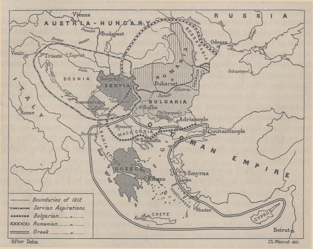 Balkan aspirations 1912
