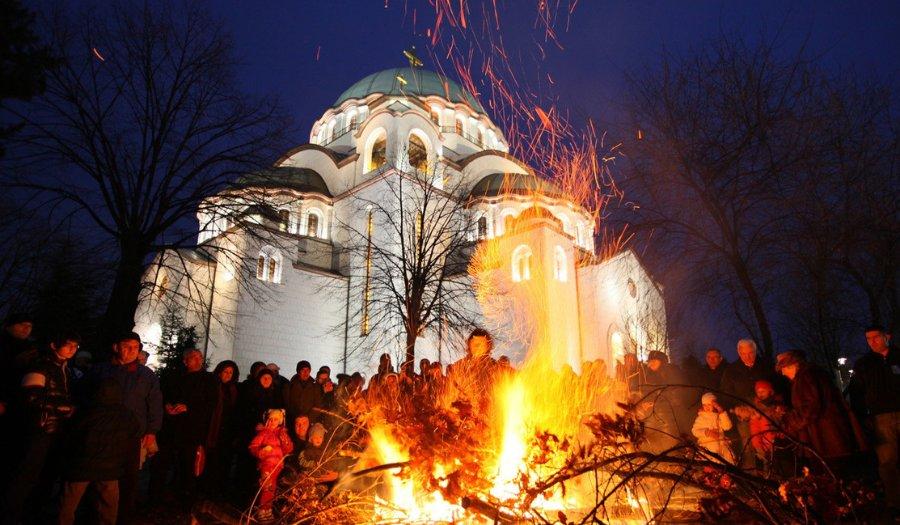 Badnjak in Belgrade