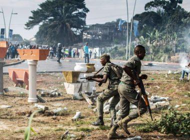 Gabonese soldiers