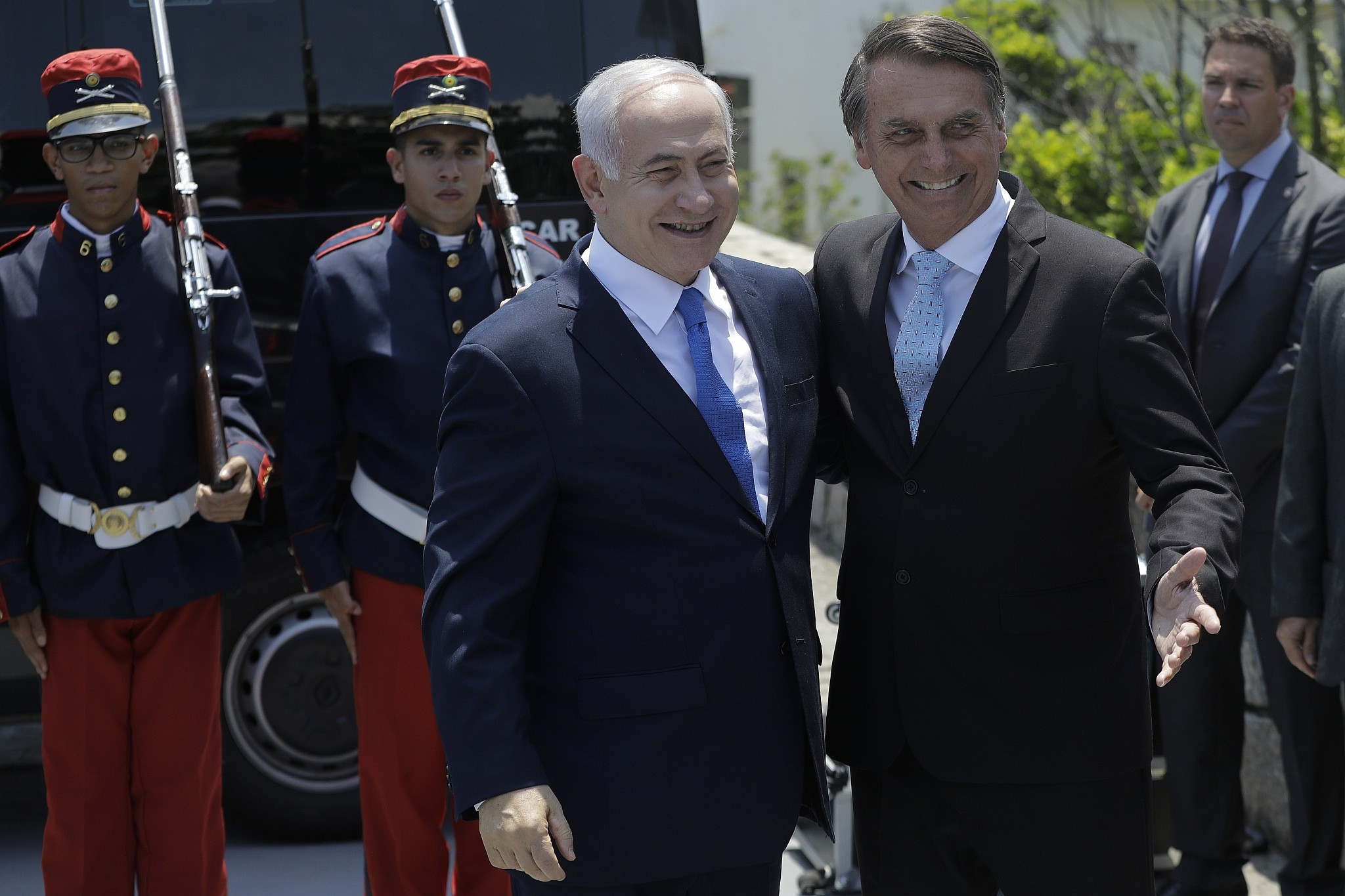 Benjamin Netanyahu during the investiture of President Bolsonaro. Israel has taken position in Brazil.