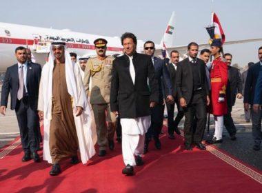 UAE's Sheikh MBZ visits Pakistan