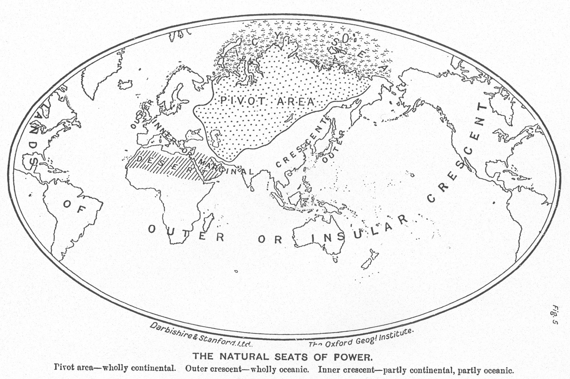 Map Pivot Area 1904 The Oxford Geographical Institute