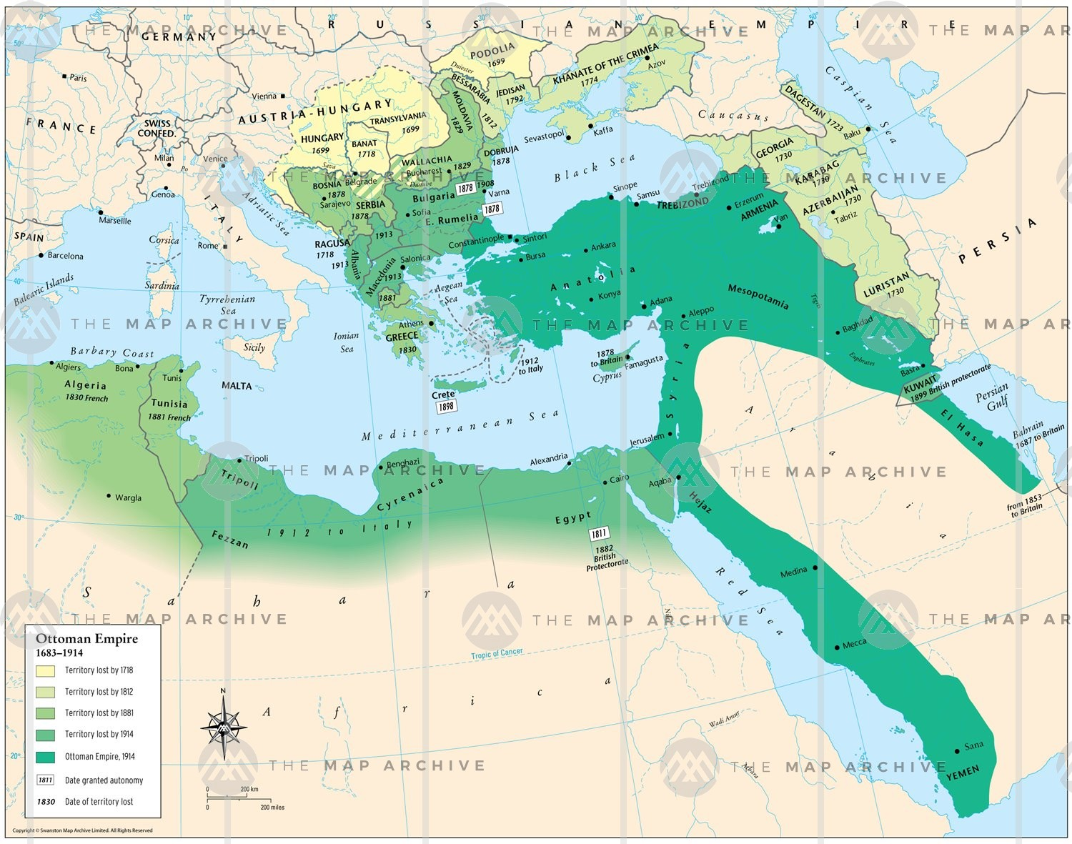 Ottoman Empire map