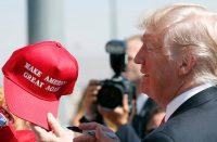 Donald Trump red baseball cap