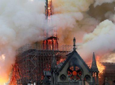 Burning Notre-Dame De Paris