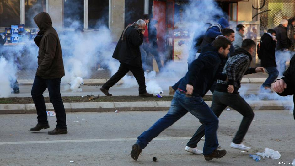 Student demonstrations in Kosovo
