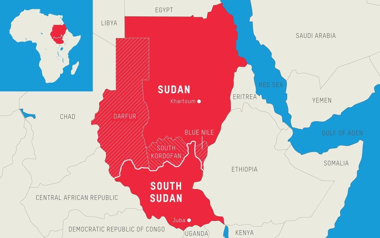 SudanDarfurSouthSudanmap