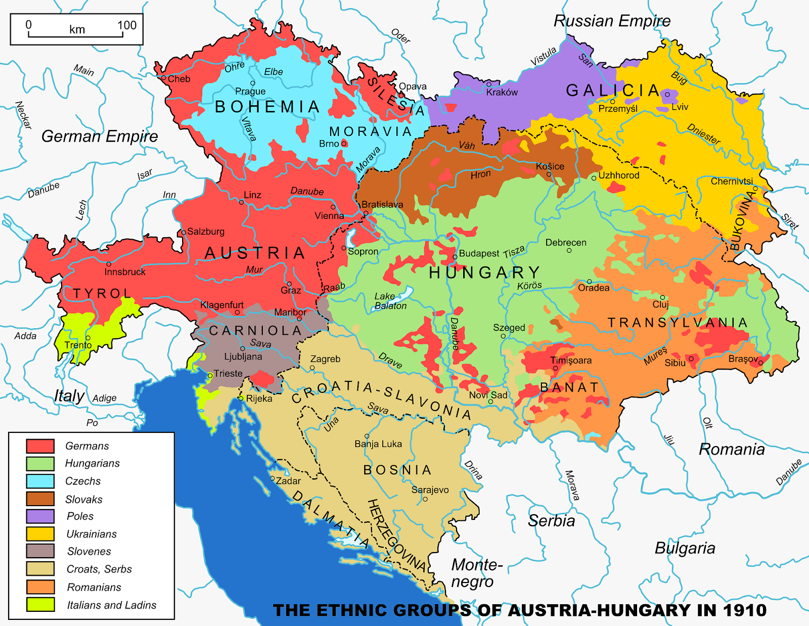 Austro-Hungarian Empire in 1910