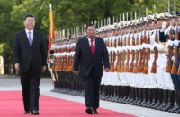 Chinese and Laotian Presidents