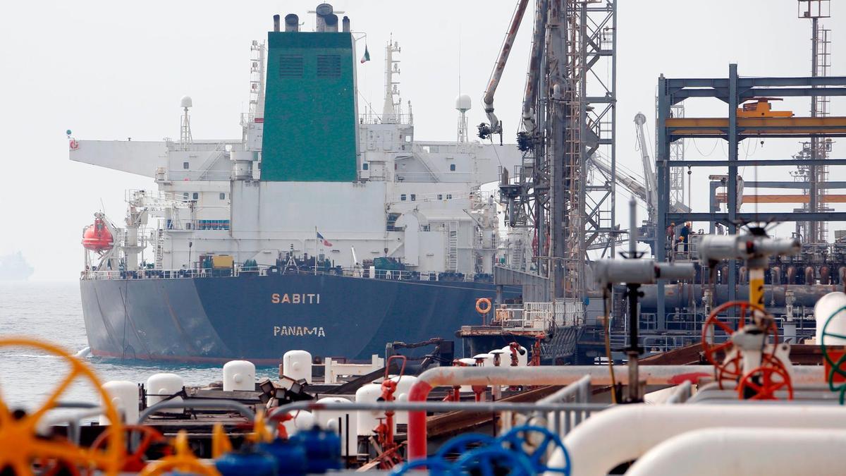 Oil facility on Iran's Kharg Island
