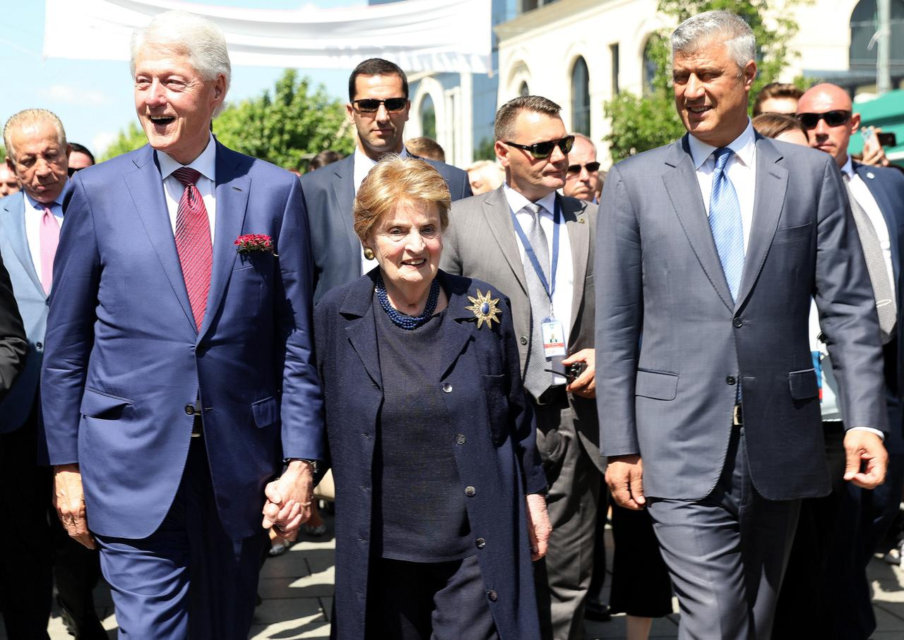 Clinton and Albright in Kosovo