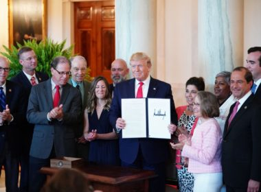Donald Trump signed an executive order, 2019