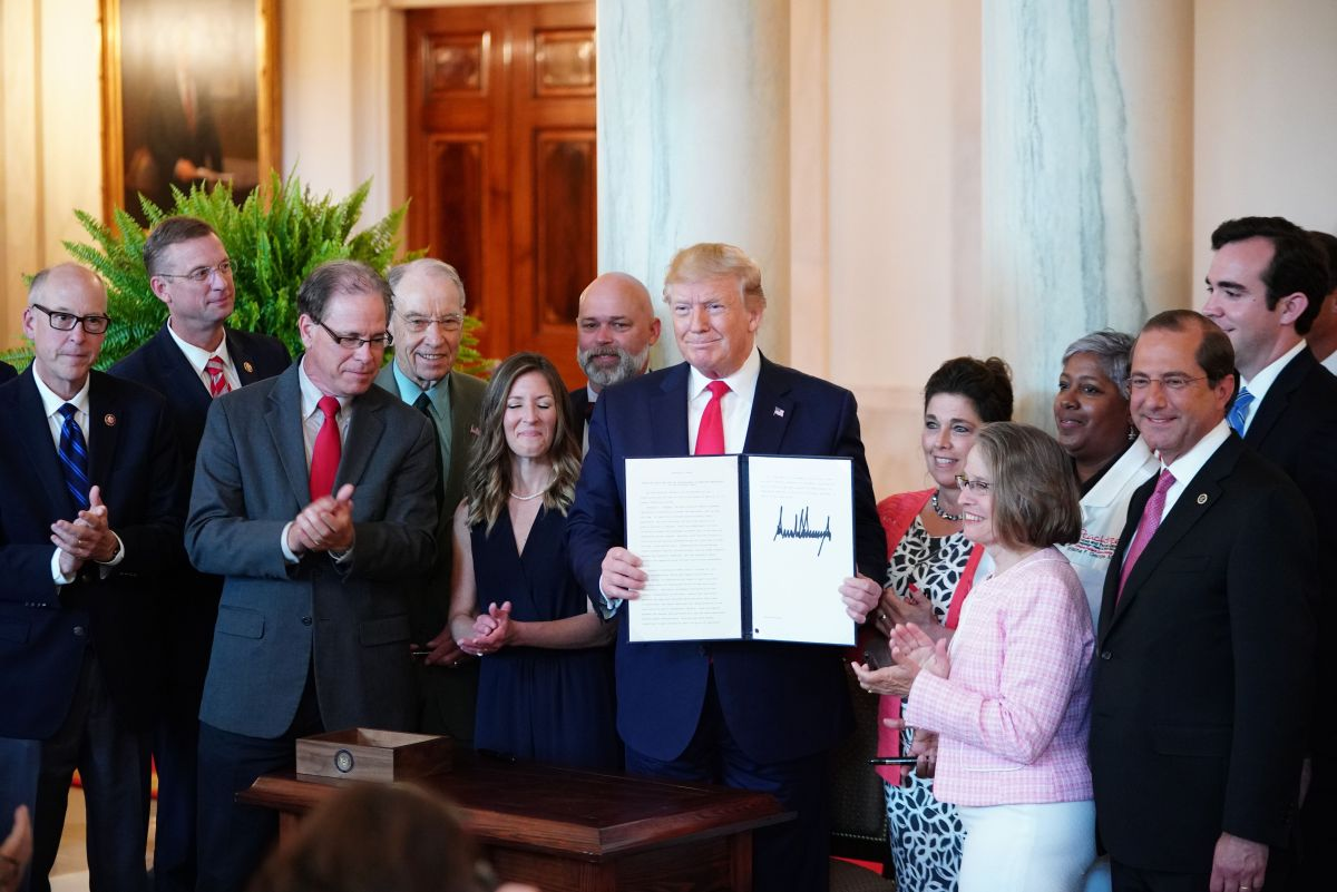Donald Trump signed an executive order, 2019
