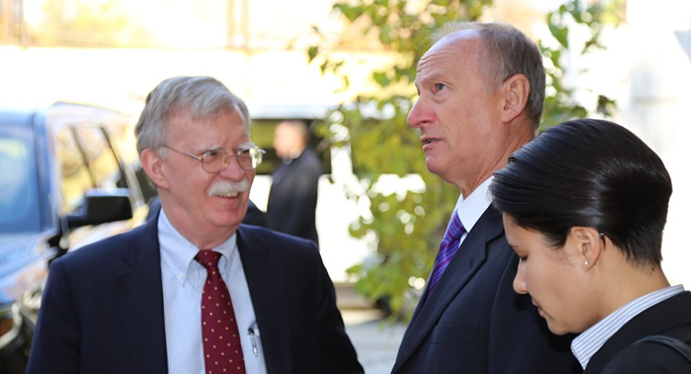 Nikolai Patruchev and John Bolton meet in Jerusalem