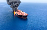 Oil tanker attacked
