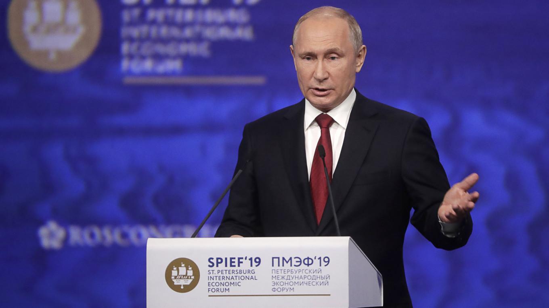 Putin at SPIEF 19
