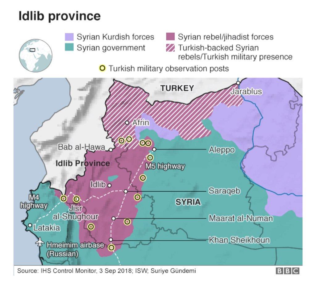 Idlib province map