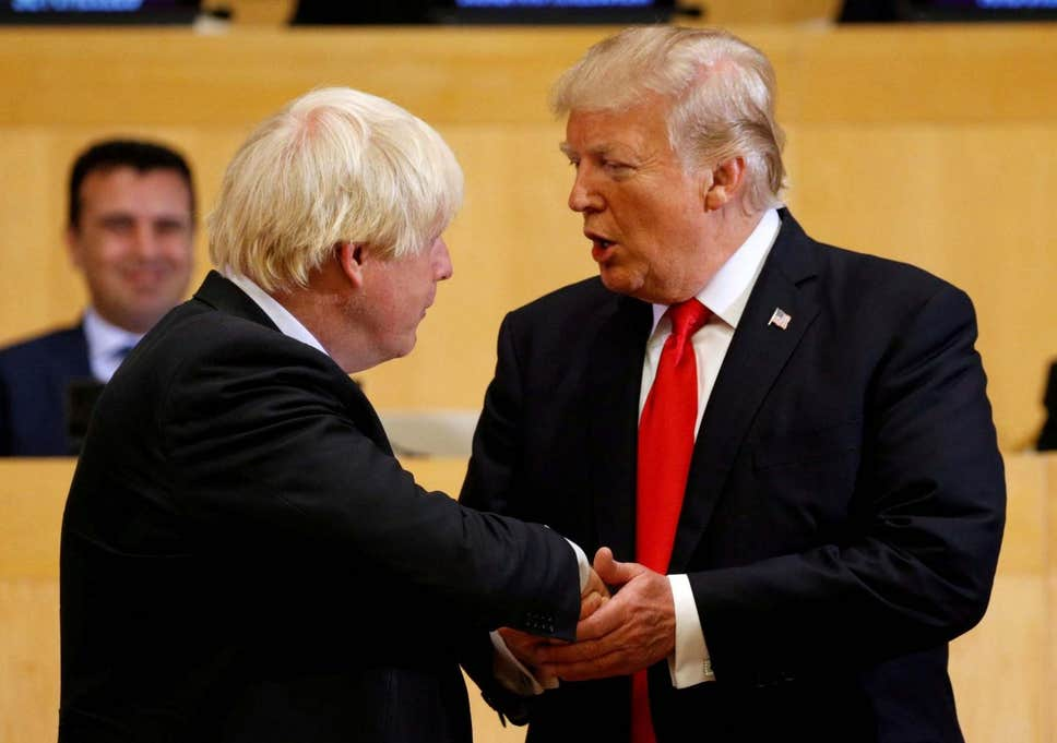 Trump and Boris Johnson