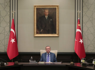 Turkish President Erdogan chairs a meeting of the National Security Council in Ankara