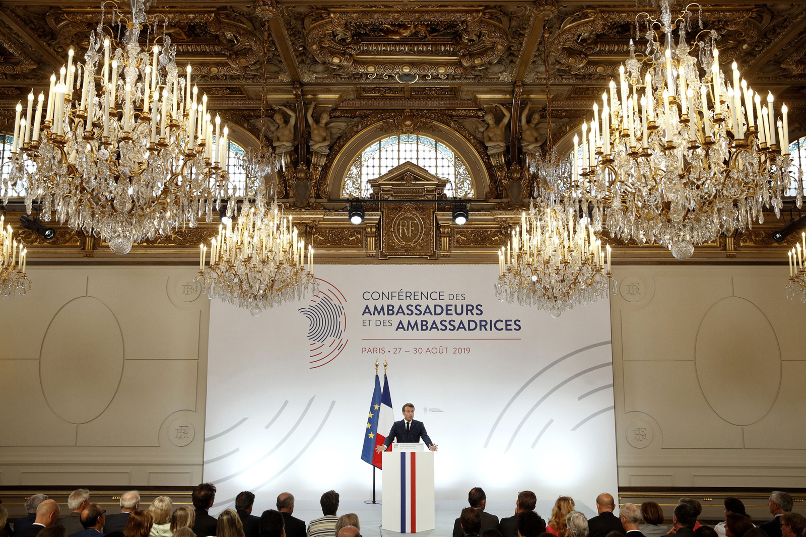 Macron delivered a major diplomatic speech