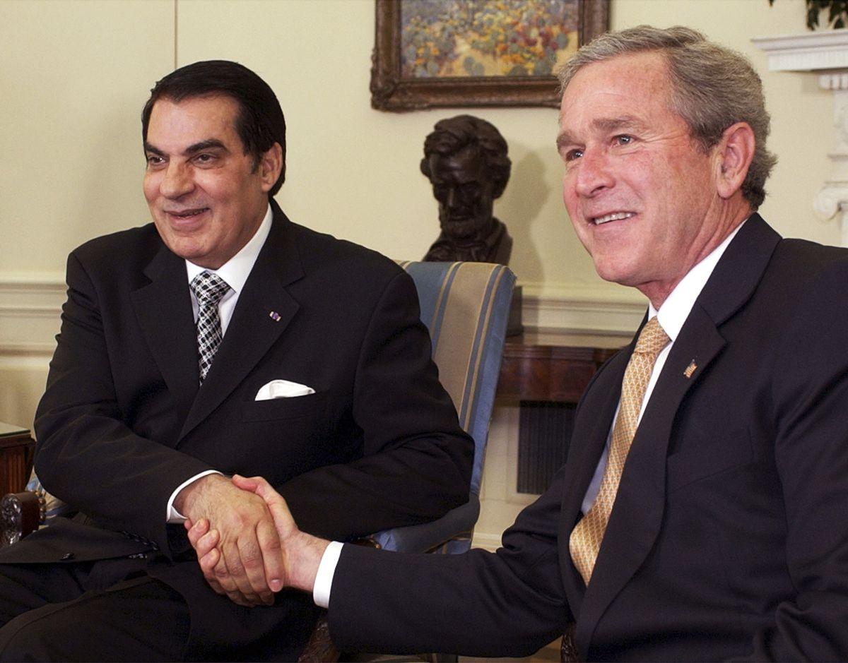 Ben Ali and Bush