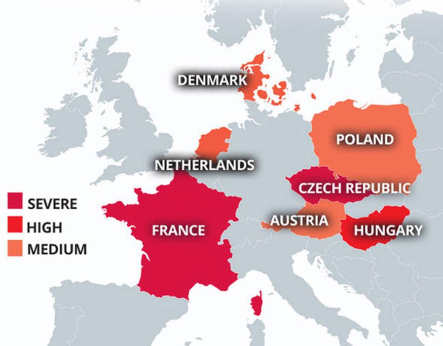 Eurosceptic countries